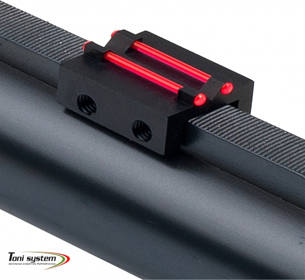 Rear sight for rib less than 8,1 mm with red optic fiber 1 mm