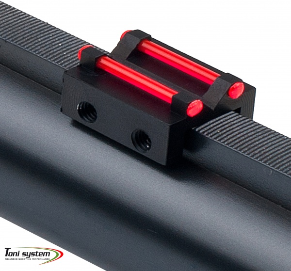 Rear sight for rib less than 10,1mm with red optic fiber 1,5 mm